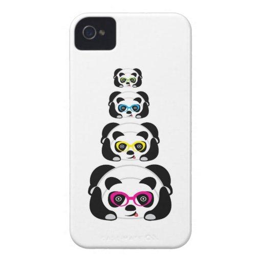 Gullig Panda för blackberry fodral