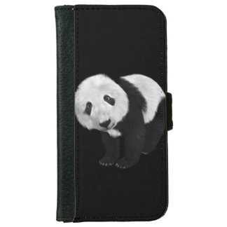 Gullig Panda iPhone 6/6s Plånboksfodral