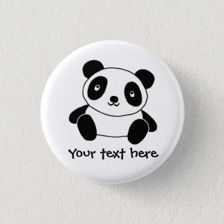 Gullig Panda Mini Knapp Rund 3.2 Cm