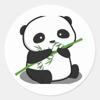 Gullig Panda Rund Klistermärke