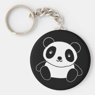 Gullig Panda Rund Nyckelring
