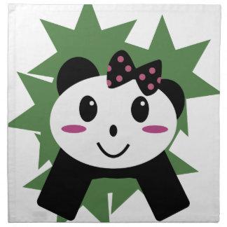 Gullig panda tygservett