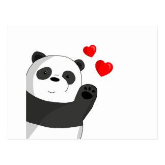 Gullig panda vykort