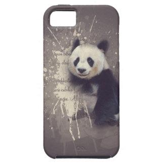 Gullig Pandaabstrakt iPhone 5 Case-Mate Fodraler