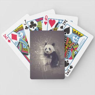 Gullig Pandaabstrakt Spelkort