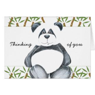 Gullig Pandabjörn Hälsningskort