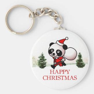Gullig Pandalyckligjul Rund Nyckelring
