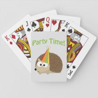 Gullig partyTime igelkott Casinokort