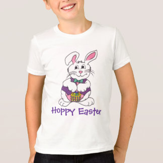 Gullig påskhare- & basketutslagsplats t-shirt