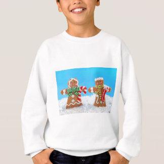 Gullig pepparkakacoupld tröjor