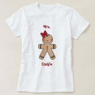 Gullig pepparkakakakatecknad t-shirts