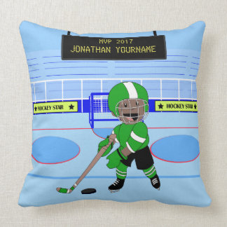 Gullig personligishockeystjärna prydnadskuddar