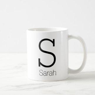 Gullig personligMonogram och namn Kaffemugg