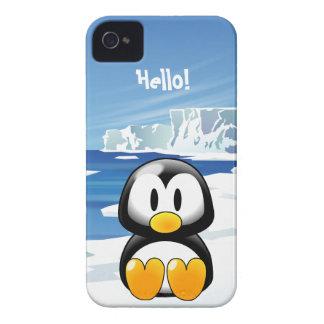 Gullig pingvin iPhone 4 Case-Mate case