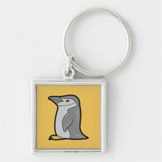Gullig pingvin Keychain Fyrkantig Silverfärgad Nyckelring