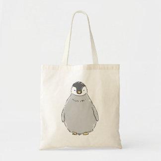 Gullig pingvinchick tote bags
