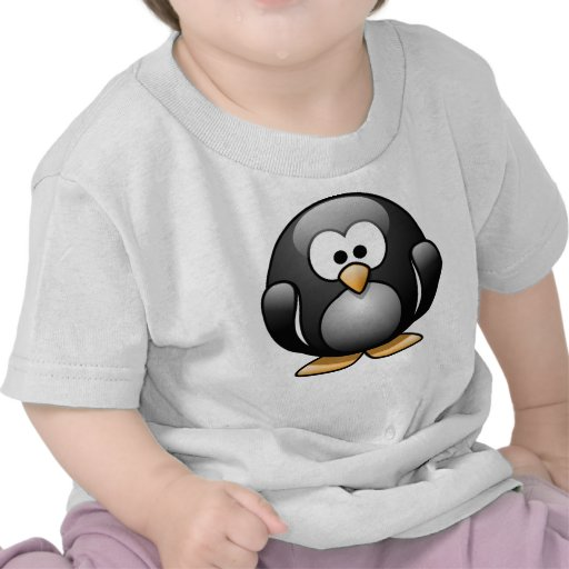 Gullig pingvinspädbarnT-tröja