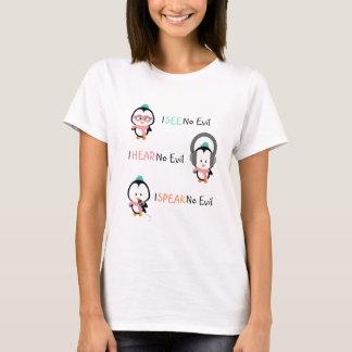 Gullig pingvinT-tröja | ser för att höra för att Tee Shirt
