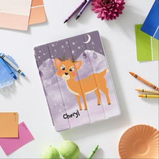 Gullig plats för snö för tecknadbabyren iPad skydd