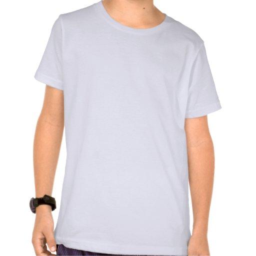 Gullig pojke. Blåttkontrollbakgrund Tee Shirt