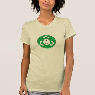Gullig polar björnåtervinnadesign (cirkla), t-shirt