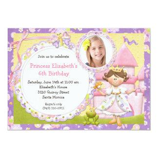 Gullig Princess födelsedagsfest inbjudan