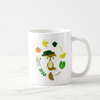 Gullig räv i höst kaffemugg