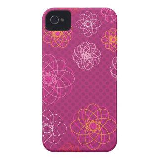 Gullig retro blommamönsterblackberry fodral Case-Mate iPhone 4 case
