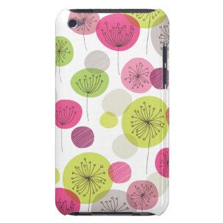 Gullig retro design för trädblommamönster iPod Case-Mate case