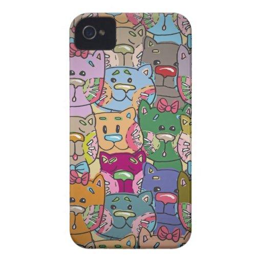 Gullig Retro Färgrik Djur Företag björnbär iPhone 4 Cover