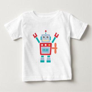 Gullig robotleksak för vintage för pojkar t shirts