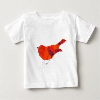 Gullig röd fågel tshirts