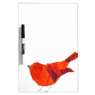 Gullig röd fågel