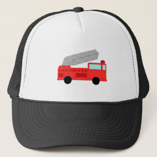 Gullig röd Firetruck Truckerkeps