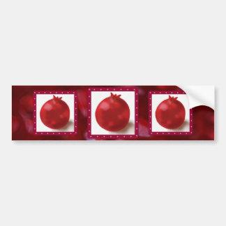 Gullig röd teckning för Pomegranate Bildekal