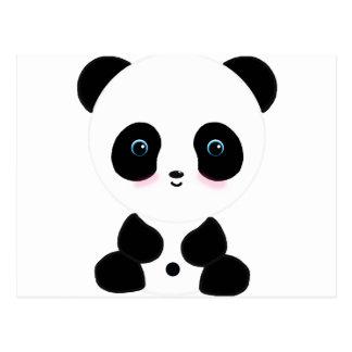 Gullig rodna Pandabjörn Vykort