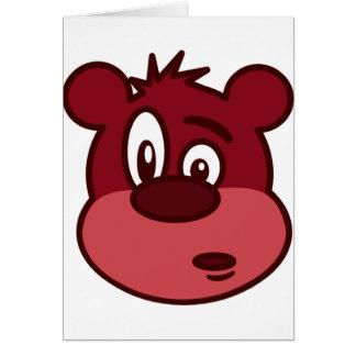 Gullig rolig blinkabjörn hälsningskort