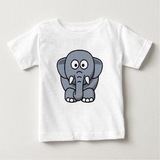 Gullig rolig elefant - grå T-tröja T Shirt