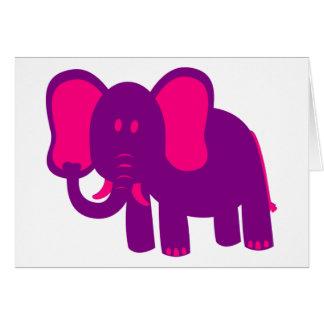 Gullig rolig elefant hälsningskort