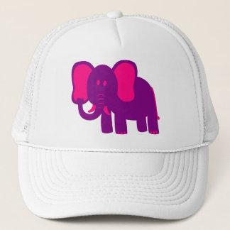 Gullig rolig elefant truckerkeps