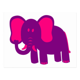 Gullig rolig elefant vykort