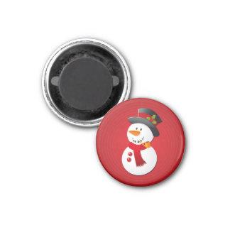 Gullig & rolig julsnögubbe magnet
