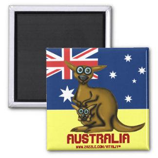 Gullig rolig känguruAustralien magnet
