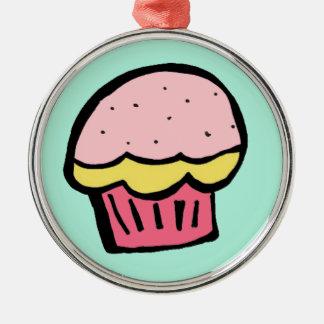 gullig rolig muffinmuffinprydnad för jul julgranskulor