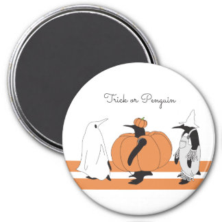 Gullig rolig pingvinHalloween personlig Magnet Rund 7.6 Cm