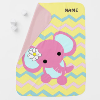 gullig rosa elefantbabyfilt bebisfilt