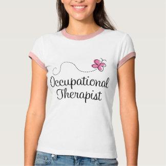 Gullig rosa fjärilsarbetsterapeut tee