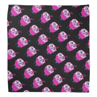 Gullig rosa molnig muffinBandanna Scarf
