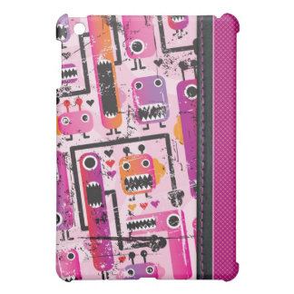 Gullig rosa monstergrungeiphone case iPad mini fodral