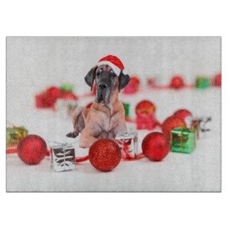 Gullig Santa för great danehundjul hatt